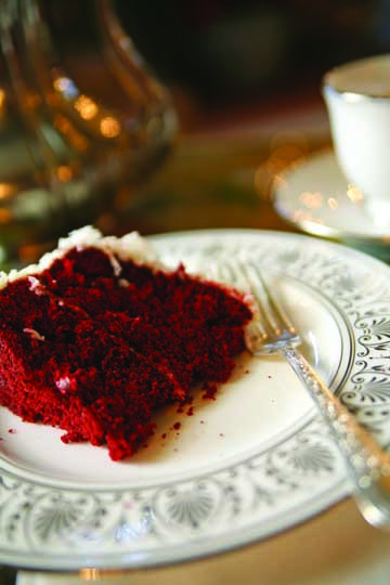 Red Velvet Cake with Cream-Cheese Coconut Icing
