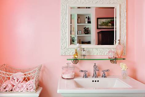 wall decor with pink