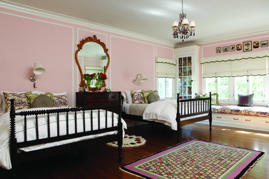 a dreamy pink bedroom