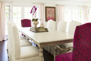 Sophiticated and romantic, you can borrow the basic ideas from this dining room and transform your own.