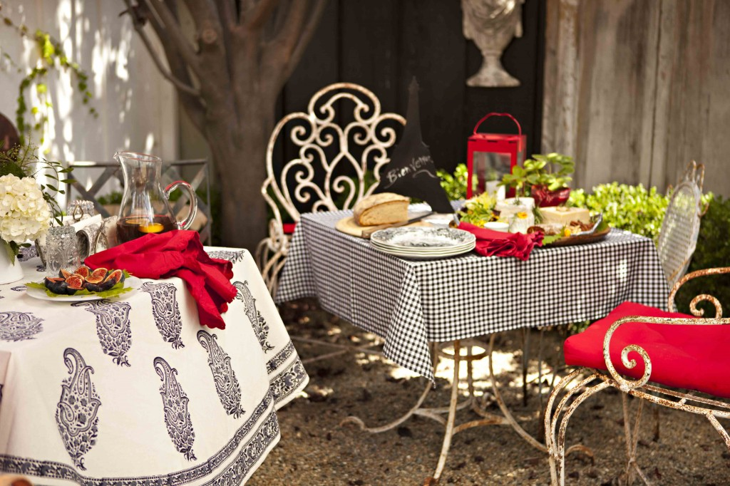 French inspired Romantic Outdoor Dining