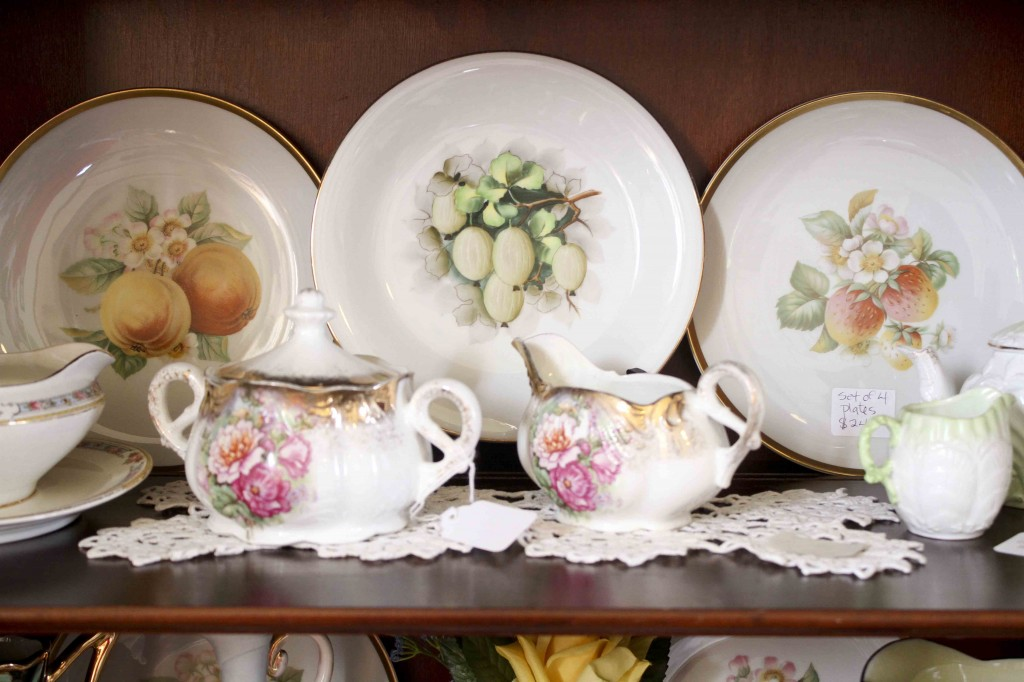 vintage painted dishes