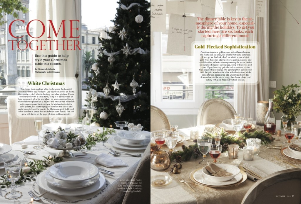 romantic-homes-december-2016-table-setting-ideas - Romantic Homes