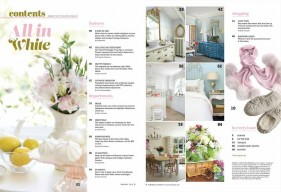 Romantic Homes January 2017 Table of Contents All in White