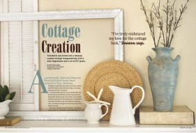 Romantic Homes January 201 Cottage Creation