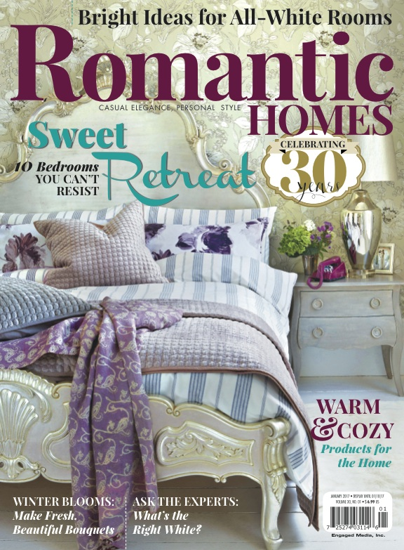 Romantic Homes January 2017 Cover: Sweet Retreat