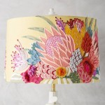 lamp shade with bold flowers