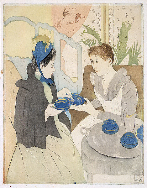 "Mary Cassatt, ""Afternoon Tea Party,"" Wikimedia Commons"