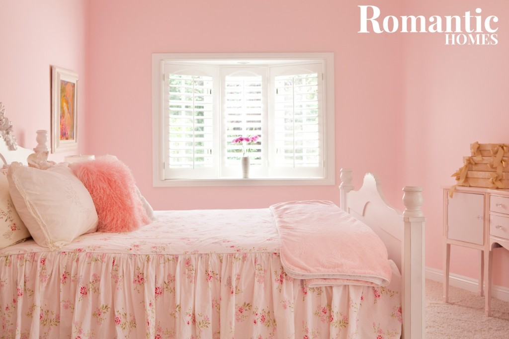 All pink decor in a girl's bedroom