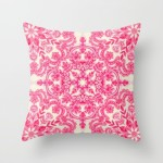 hot-pink-soft-cream-folk-art-pattern-pillows