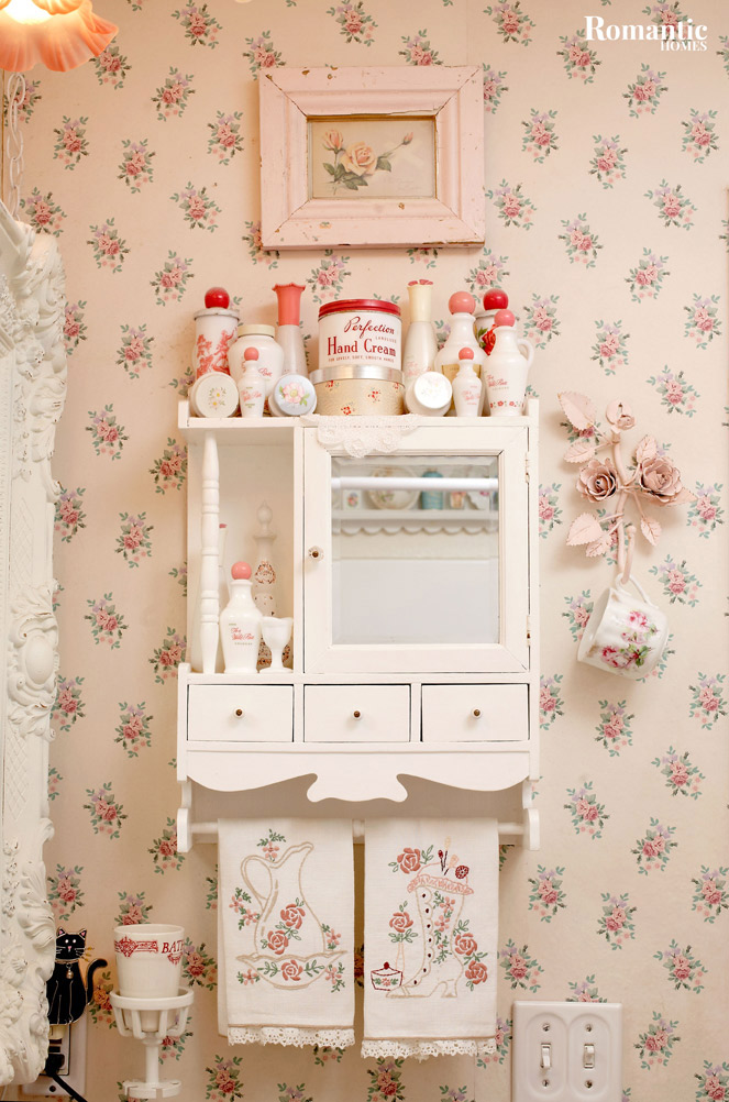 Vintage Pink Powder Room