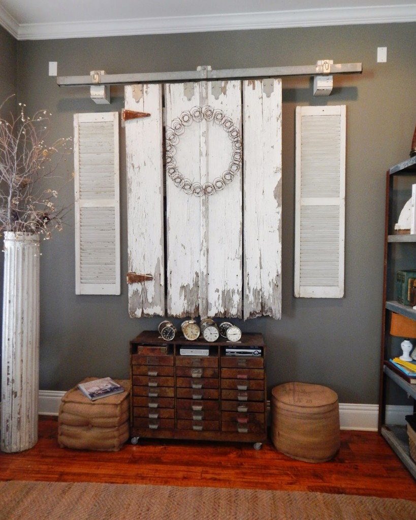 Sliding Barn Door TV Cover