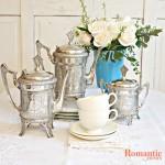 FrenchGardenHouse silver teapots
