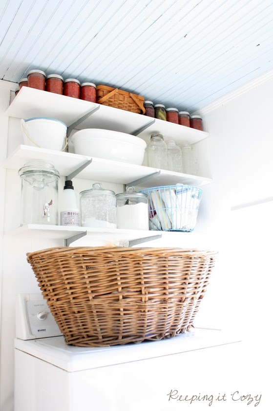 keeping it cozy laundry room