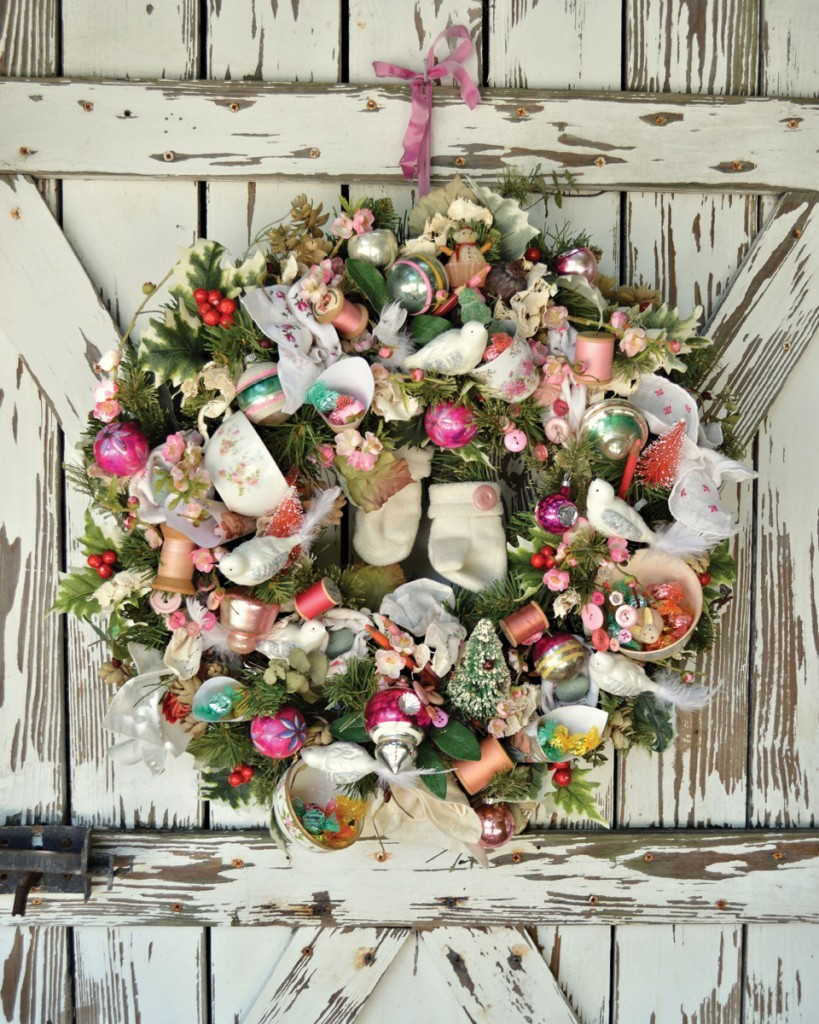 This DIY Christmas wreath will have you scrounging in your craft supplies.