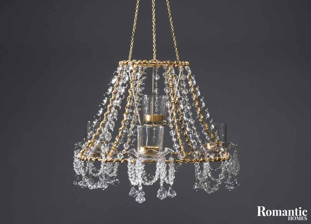 Diy chandelier make a unique treasure for your home romantic homes - Build a chandelier ...