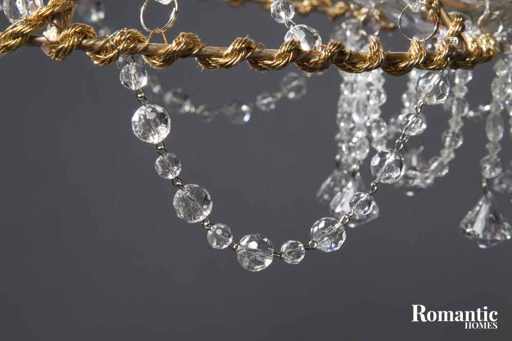 Make it diy crystal chandelier romantic homes chandlier crystals on a diy project mozeypictures Choice Image