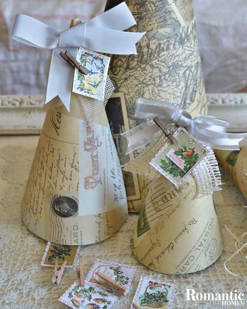 scrapbook cones gift wrap