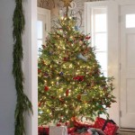Foyer with Christmas tree