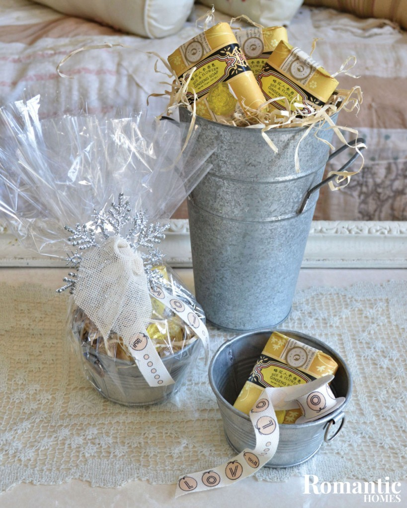 galvanized tin gift wrap