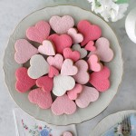 Valentine's Day lace cookies