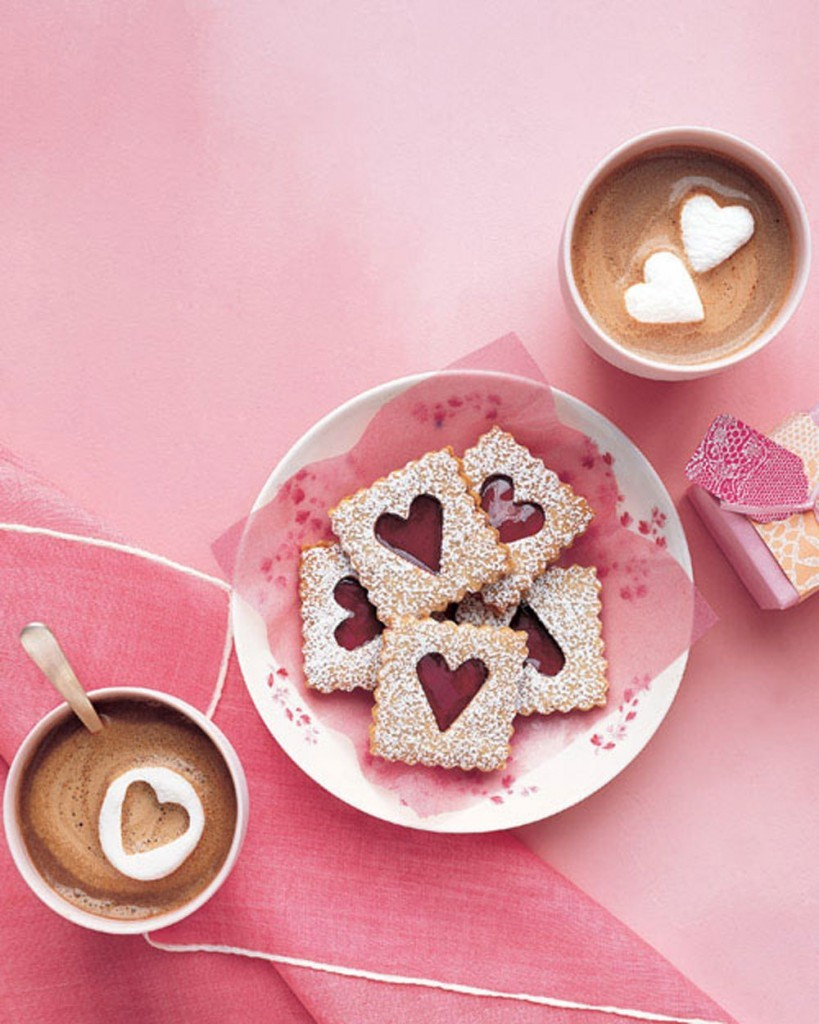 Pecan Linzer cookies