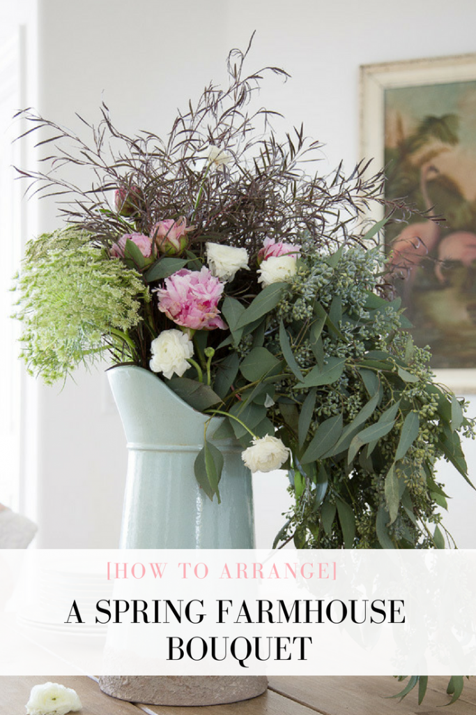 How to Arrange a Spring Farmhouse Bouquet