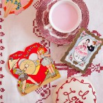Valentines Day ephemera hearts