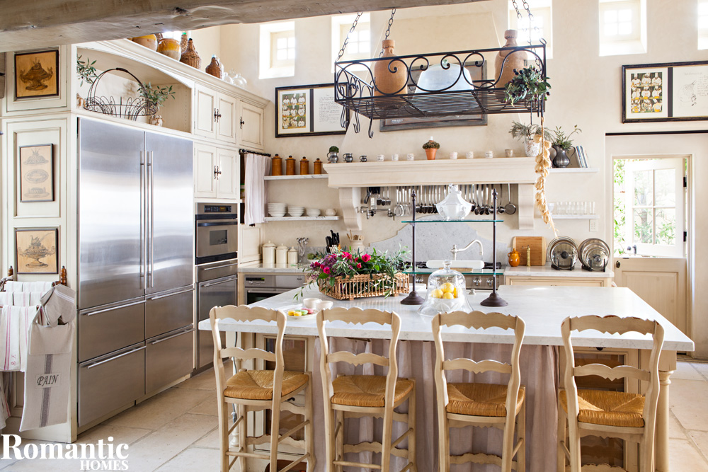 get a french country kitchen on a budget - romantic homes