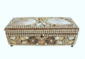 his 19th-century shellwork souvenir box was created especially to hold lustrous strands of pearls.