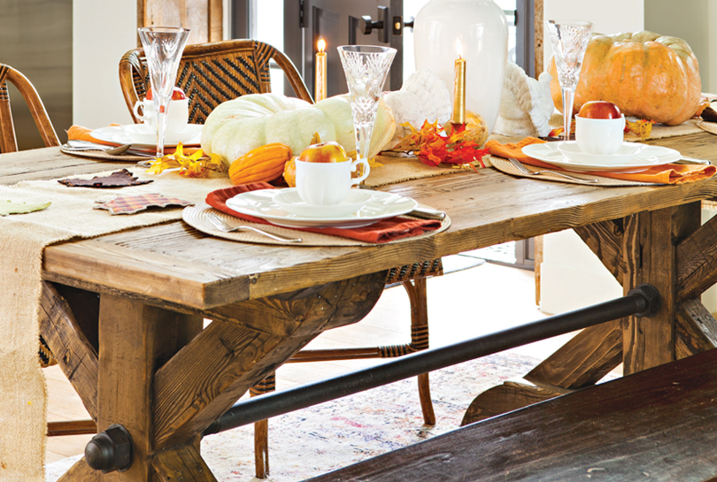 The Trestle Table Feels Right At Home In A Farmhouse Setting. Photo By Bret  Gum
