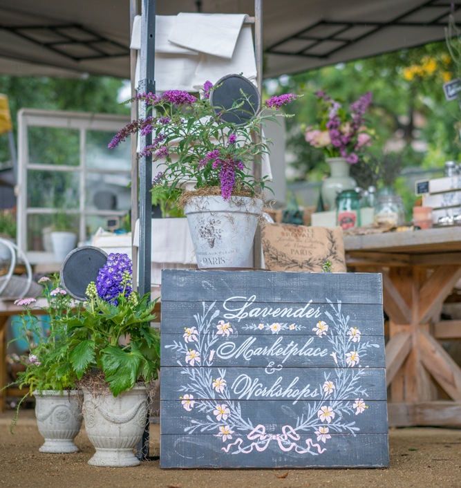 Lavender Marketplace and Workshop Sign