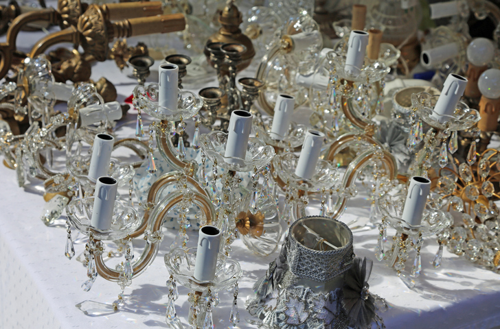 10 Tips for Estate Sale Success- Antique chandeliers for sale
