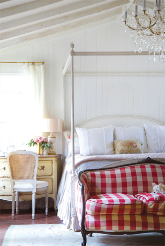 Courtney Allison's bedroom is full of romantic style