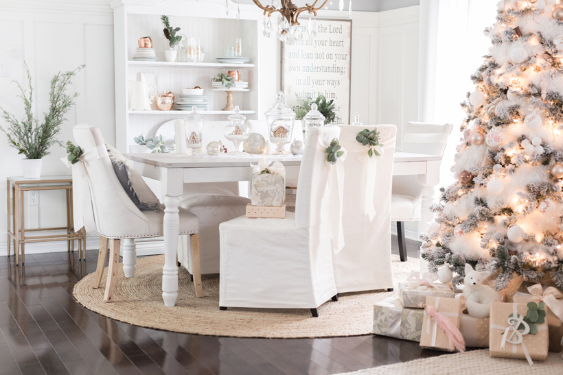 Blogger Lucy Akins of Craftberry Bush creates a winter wonderland with cute crafts and clever DIY projects