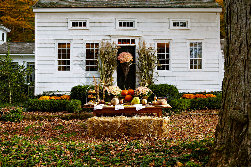 Nora Murphy's country home is decorated for fall
