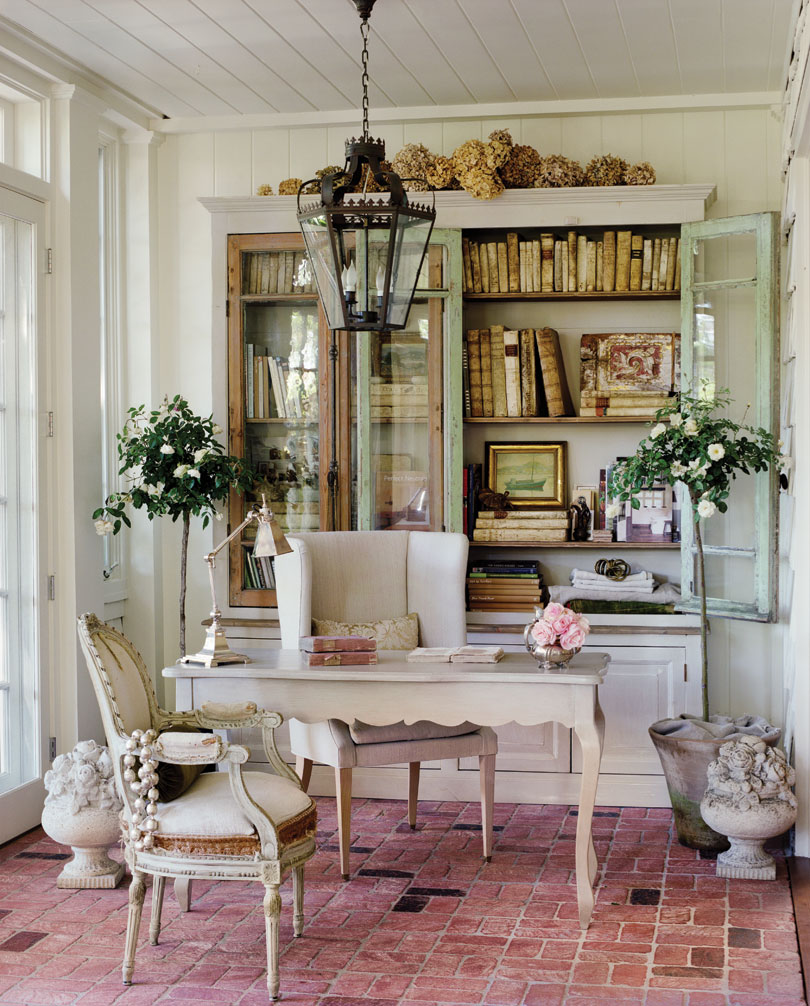Romantic office space designed by Brooke Gianetti and Steve Gianetti