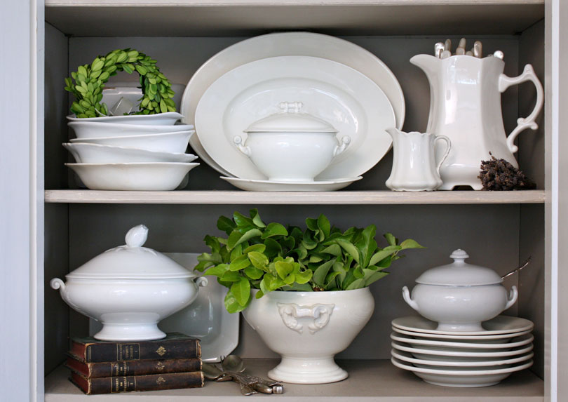 White Ironstone dishes make for a useful and beautiful collection.