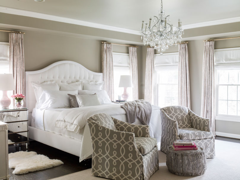 A light and airy master bedroom