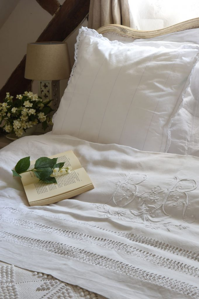 Sharon Santoni's puts fresh flowers in the guest room as a welcoming gesture.