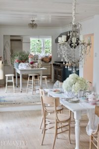 Rachel Ashwell's dining room and kitchen