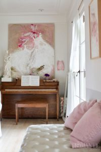 Laurence Amelie tutu painting above Rachel Ashwell's piano