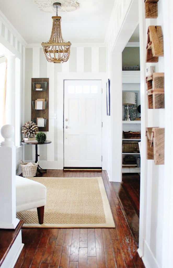 KariAnne Wood's entryway in The DIY Home Planner