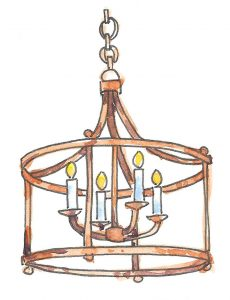Chandelier Illustrated by Michal Sparks