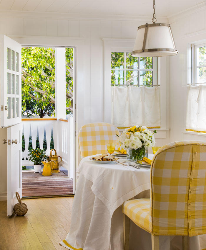 The color yellow has an illuminating and mood-boosting quality in a space.