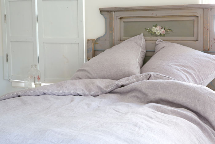 Shabby Chic Prairie Stitch bedding in Shadow