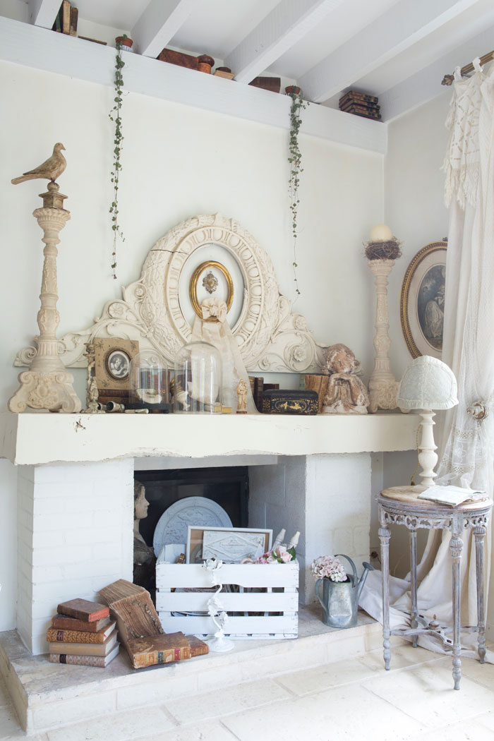 Shabby French Fireplace