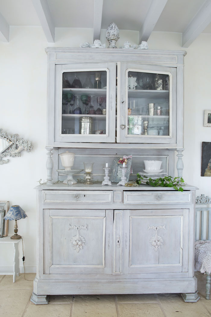 Shabby Vintage French Hutch