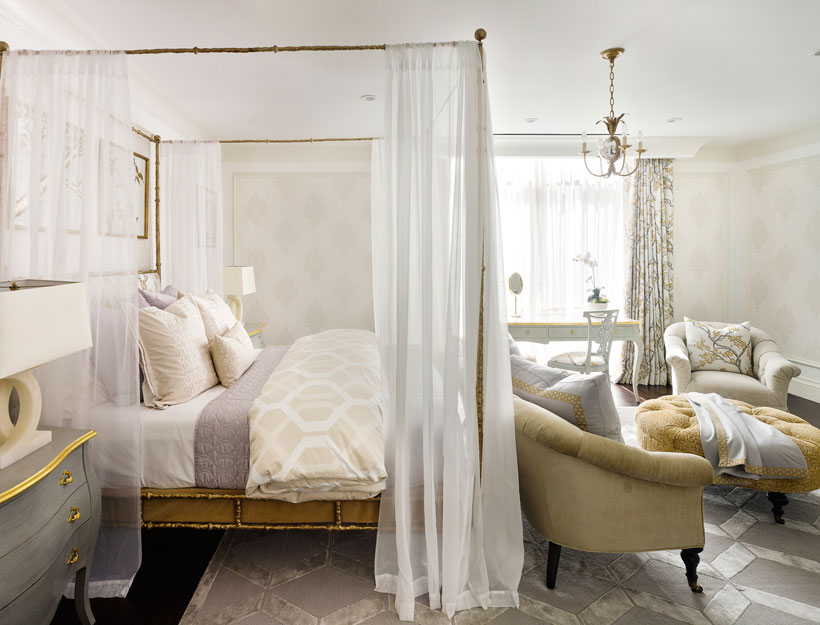French inspired bedroom with sitting area