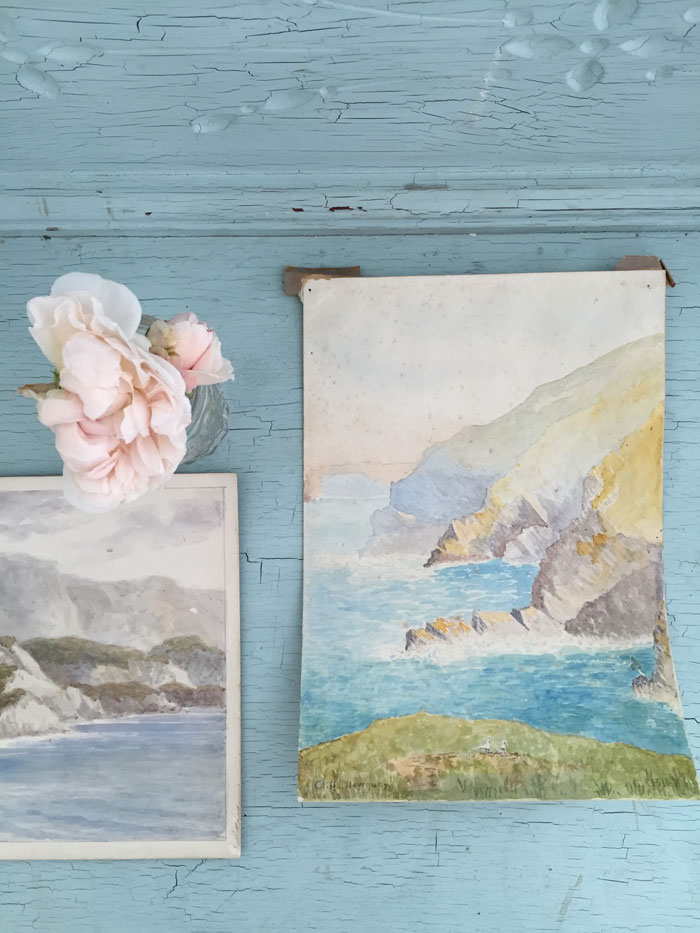 Quiet but reflective art is always a welcome layer to a space, and it fits well with a coastal vibe.-Rachel Ashwell
